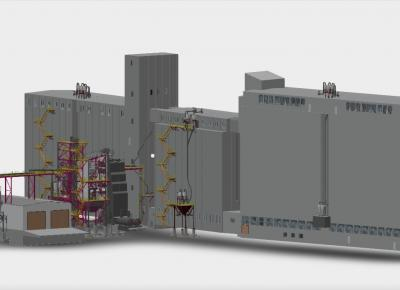 Бункера для зерносушильного комплекса мощностью г. Шадринске Курганской области