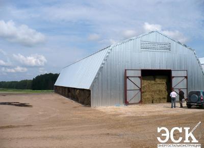 Арочный склад под сено