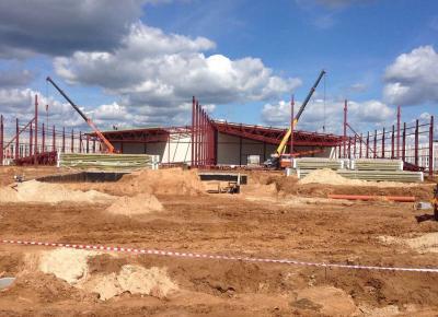 Монтаж крупного тепличного комплексе в г. Бор, Нижегородской области