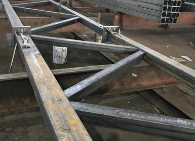 Отгружаем металлоконструкции для здания рынка